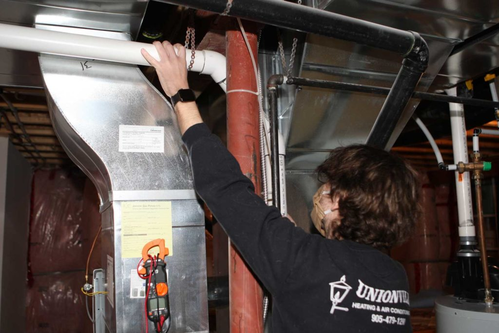 Duct work for furnace and air conditioning